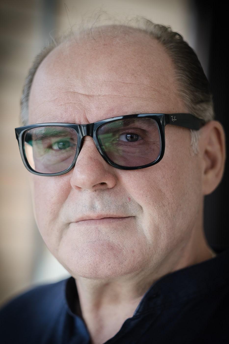 August Schmölzer mit Brille